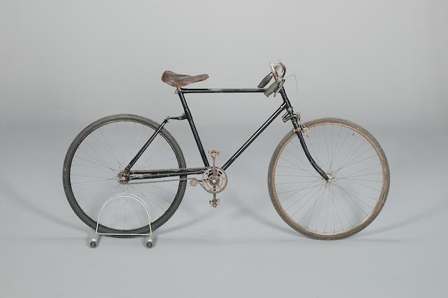 A spring-frame gentleman's bicycle, circa 1910,
