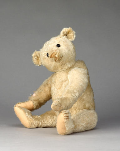 Steiff white mohair centre seam Teddy bear, German circa 1909