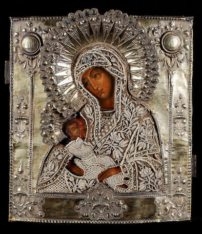 The Vladimir Mother of God, Moscow, 1805 32.5 x 29 cm. (12 ¾ x 11 ¼ in.)