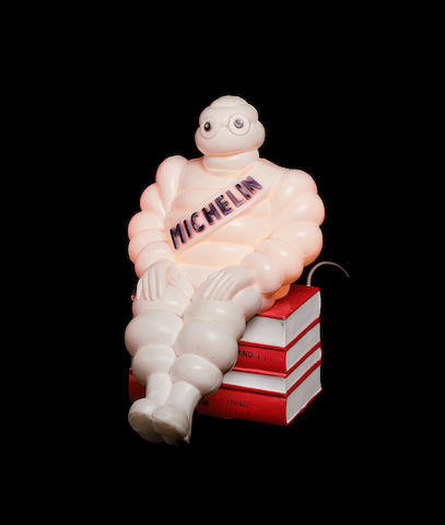 A Michelin Guidebook lamp,