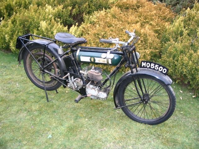 1925 BSA 250cc Model B 'Round Tank' Frame no. 17403 Engine no. 18438