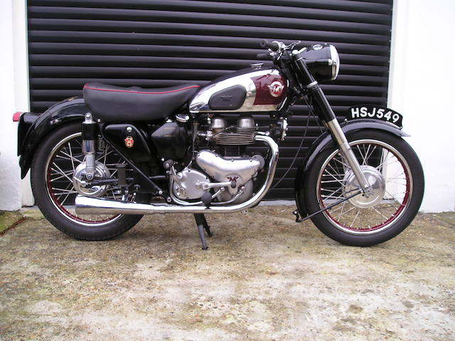 1955 Matchless 498cc G9  Frame no. 32352 Engine no. 55/G9/26593