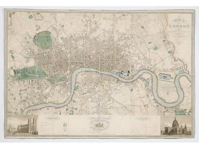GREENWOOD (CHRISTOPHER and JOHN) Map of London from Actual Survey