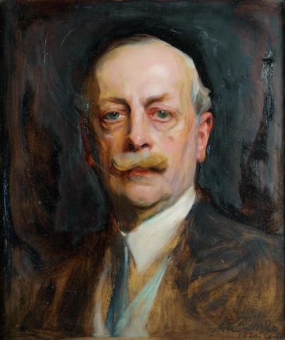 Philip Alexius de László P.R.B.A., R.P., N.P.S. (1869-1937) Lt Colonel Charles à Court Repington C.M.G. 47.5 x 40.5 cm. (18 3/4 x 16 in.)