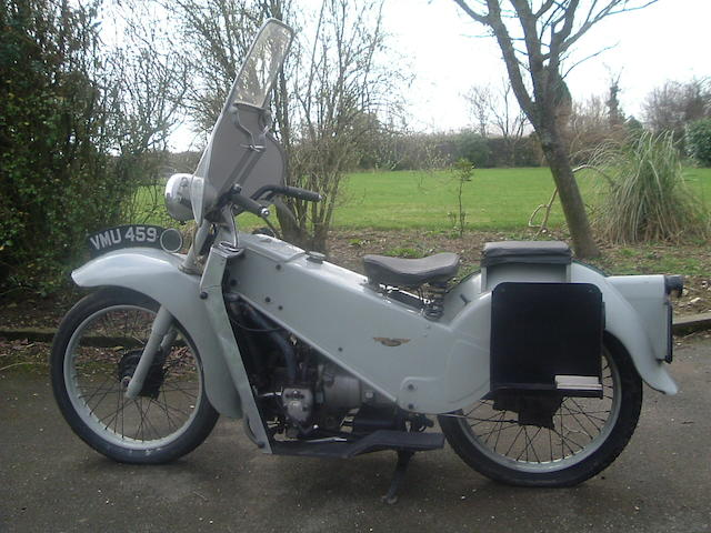 c.1952 Velocette 192cc LE  Frame no. 14111 Engine no. 15562