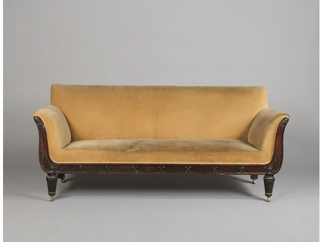 A William IV rosewood sofa