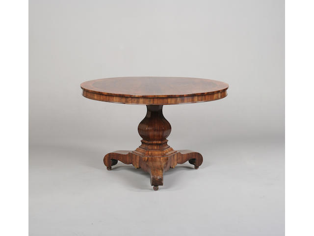 A early Victorian gonzalo alves and marquetry breakfast table