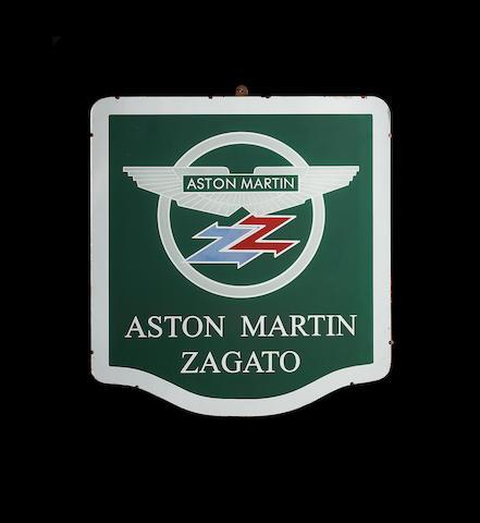 An Aston Martin Zagato showroom sign,