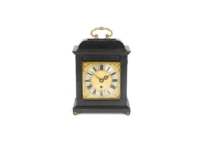 A late 17th century ebony veneered bracket timepiece with pull quarter repeat Joseph Knibb, London