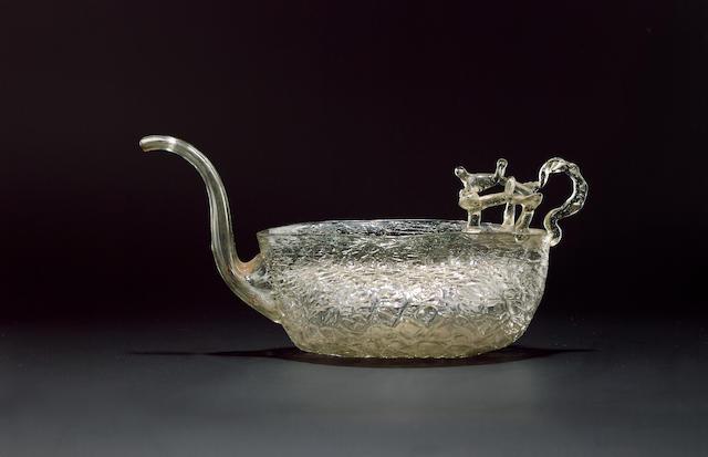 A Façon de Venise feeding cup 17th century