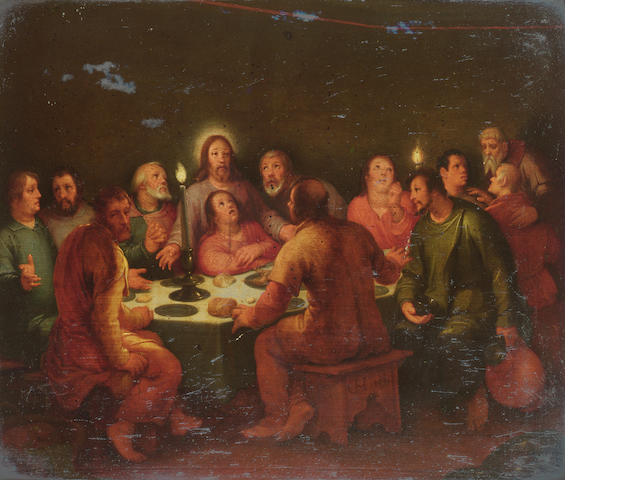Cornelis van Haarlem (1562-1638) The Last Supper 37.4 x 44.2 cm. (14¾ x 17 3/8 in.)
