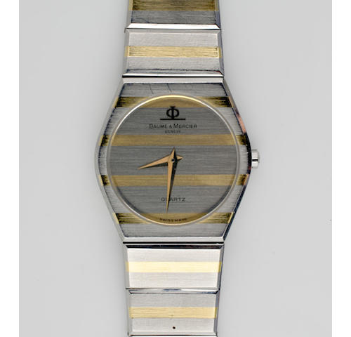 Baume & Mercier: A lady's stainless steel quartz wristwatch,