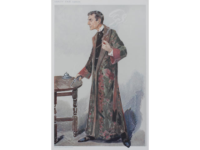 Of Vanity Fair Interest, a group of thirteen prints, mainly of 'Men of the Day', seven after Spy, others after Singe, Ape and Lib, prints in colour, 34 x 22cm. (13)