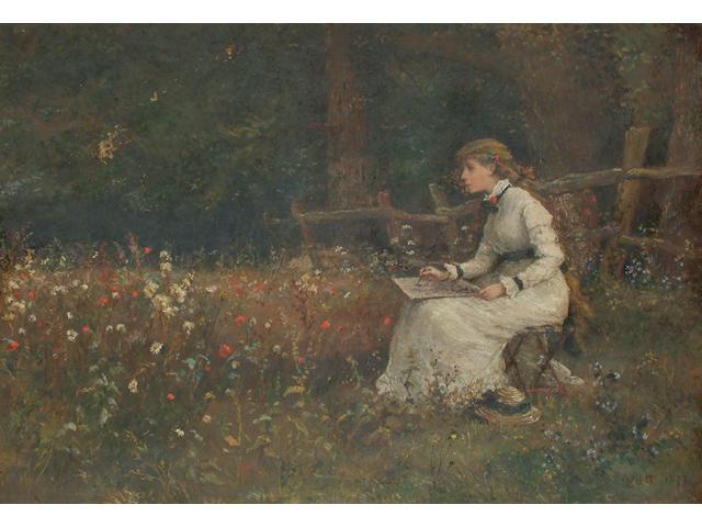 Linnie Watt (British, fl.1875-1908) A student of nature.
