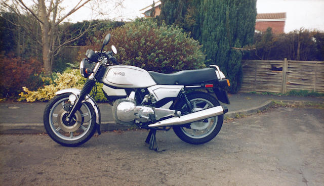 Number '001', 1,500 miles from new,1988 Norton 588cc Classic  Frame no. LE001 Engine no. LE001