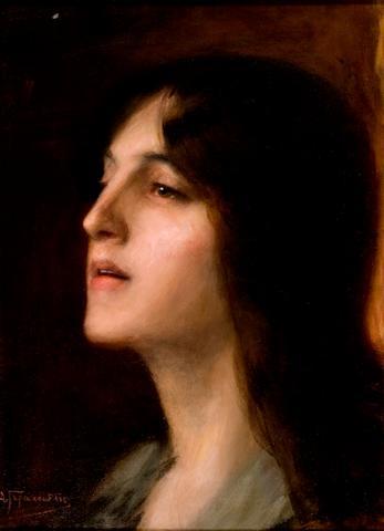 Dimitris Geraniotis (1871-1966) Ecstatic 27 x 36 cm. (10 5/8 x 14 1/4 in.)