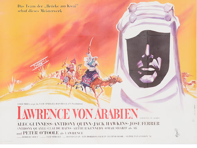 Lawrence of Arabia 1962 German Double Panel