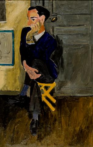 Yiannis Tsarouchis (1910–1989) The art critic in blue jacket