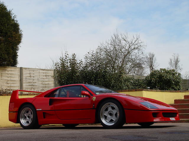 1989 Ferrari F40 Berlinetta  Chassis no. 84037 Engine no. 20778
