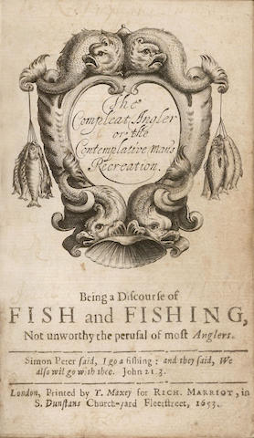 WALTON (IZAAK) The Compleat Angler or the Contemplative Man's Recreation, Being a Discourse of Fish and Fishing