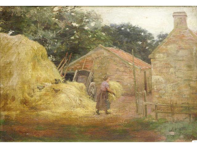 John McGhie (19/20thc) An East Neuk farm scene