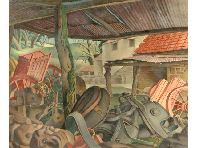 Harry Epworth Allen R.B.A., P.S. (1894-1958) A farmyard