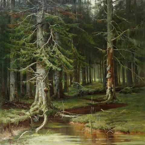Yuli Yulievich Klever, 1850-1924 Virgin Forest 137 x 137 cm. (54 x 54 in.)