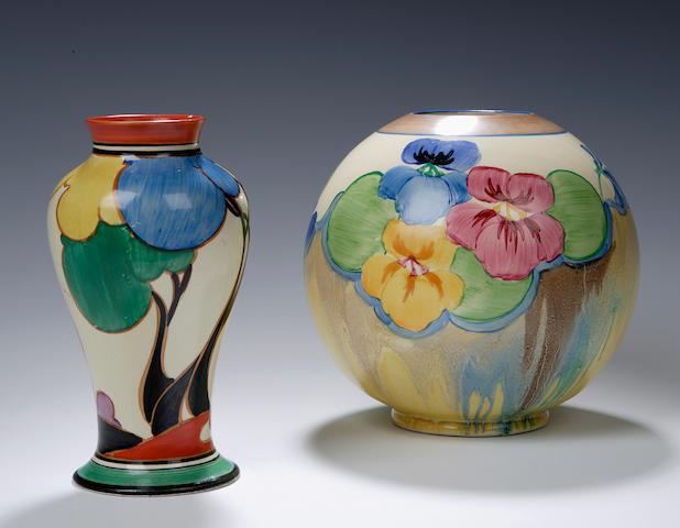 'Autumn (Balloon Trees)' A Clarice Cliff vase, meiping