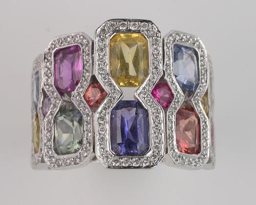 A French gem set dress ring (2)