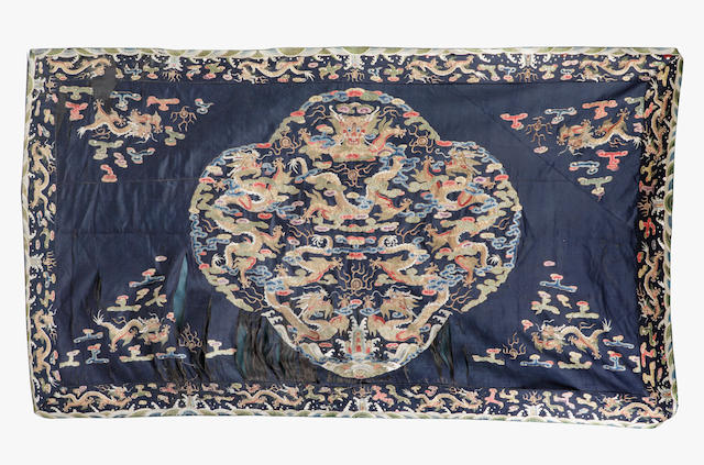 An embroided hanging Chinese early 20th century