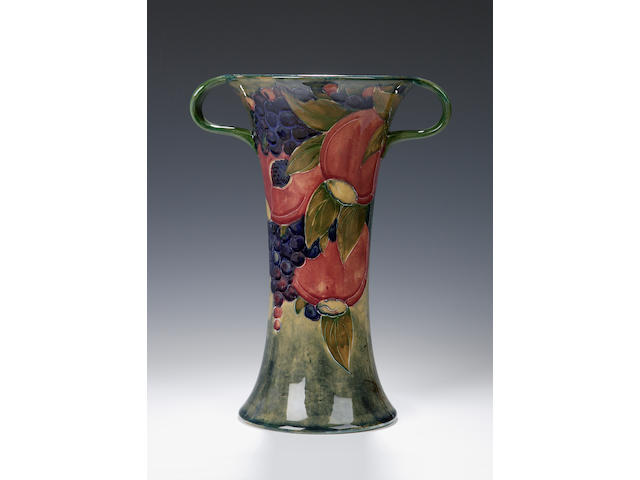'Pomegranate' A Moorcroft two-handled vase,