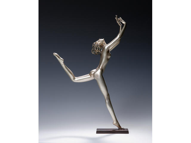 Lorenzl A silvered bronze figure