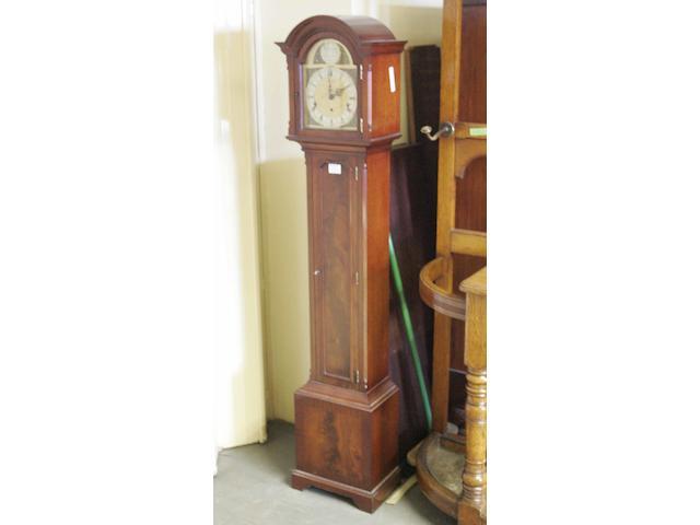 A 20th century mahogany cased chiming longcase clock, of small proportionsCanham, London