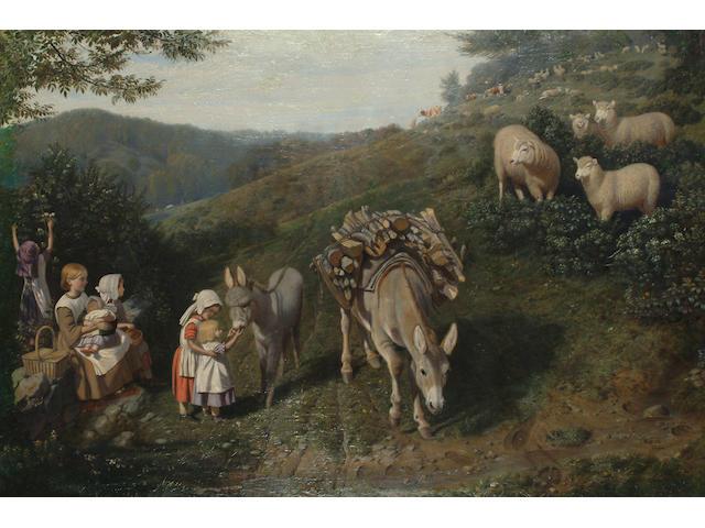 Friedrich Wilhelm Keyl (German, 1823-1871) Making new friends.