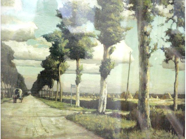 Arthur Vivian Couling (20thc) 'La Route National'