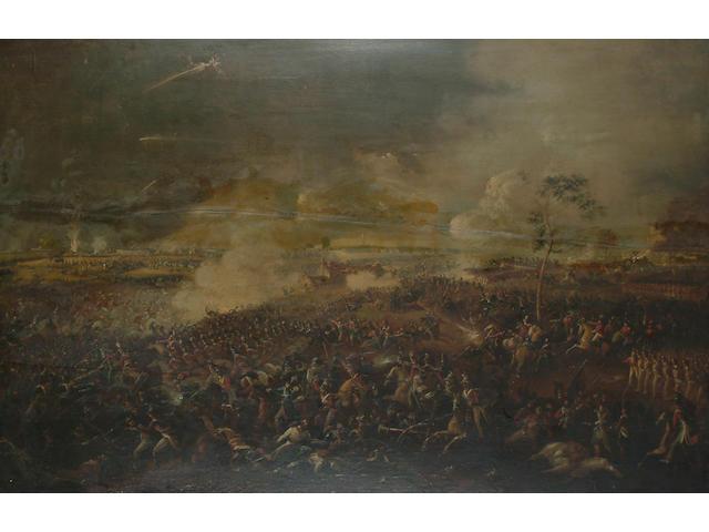 English School, Mid 19th Century The Battle of Waterloo.