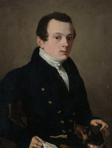 Continental School, Early 19th Century Portrait of a gentleman, thought to be Dr Nussbaum, the Surgeon.