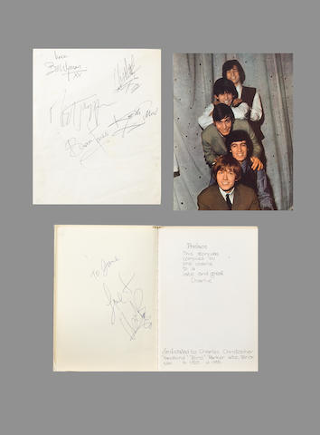 A set of Rolling Stones autographs and other items, circa 1964,