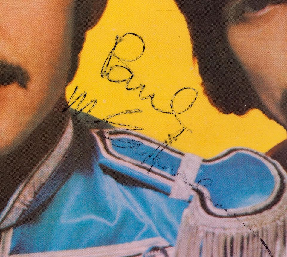 An autographed 'Sergeant Pepper's Lonely Hearts Club band' record sleeve, 1967,