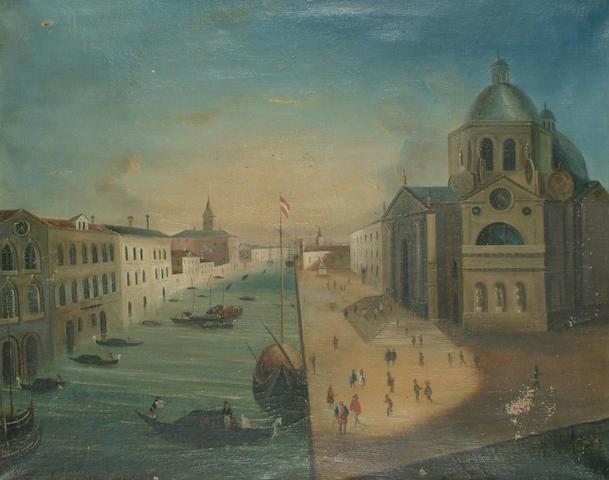 Provincial School, 19th Century The Grand Canal Venice with Santa Maria della Salute. 63 x 79cm (24 3/4 x 31in)