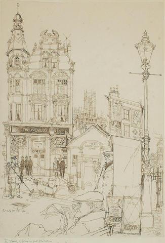 Ronald Searle (British, b.1920) Worlds End Pub.