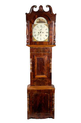An early 19th century North Country mahogany longcase clock