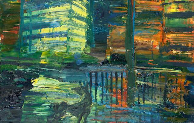 Paul Butler (b.1947) Dog 30 x 48 cm. (12 x 19 in.)