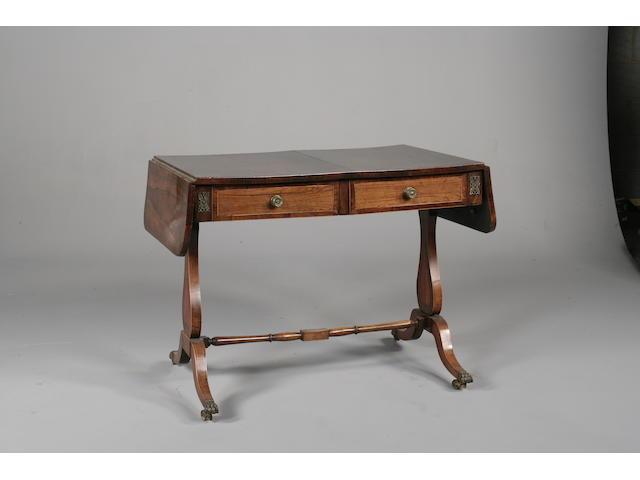 A George IV rosewood sofa table