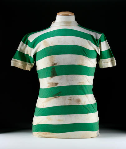 A Jimmy Johnstone worn shirt
