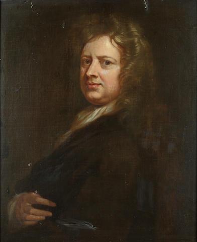 Circle of Sir Godfrey Kneller (Lübeck 1646-1723 London) Portrait of Thomas Betterton, half-length, 76.4 x 63.2 cm. (30 x 25 in.)