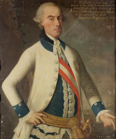 Austrian School, circa 1770 Portrait of Ernst Gideon, Freiherr von Loudoun, 92 x 77.6 cm. (36¼ x 30½ in.)