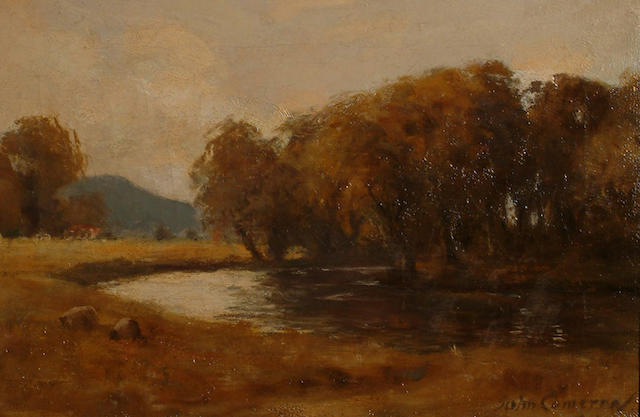 Attributed to Duncan Cameron A river landscape.