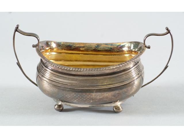 A George III two handled sugar basin Crispin Fuller, 1812,