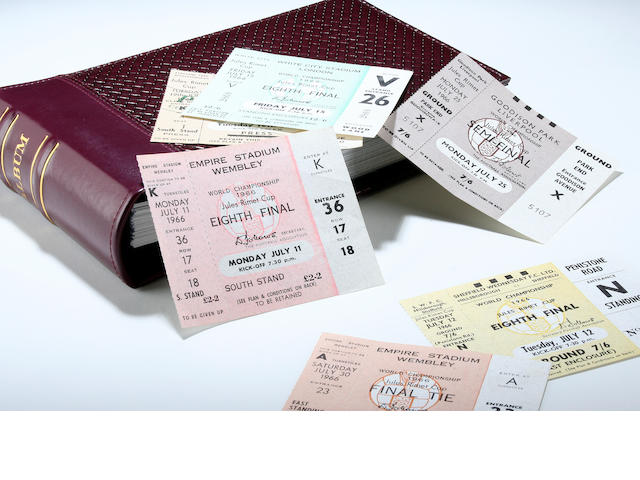 A complete set of 1966 tickets